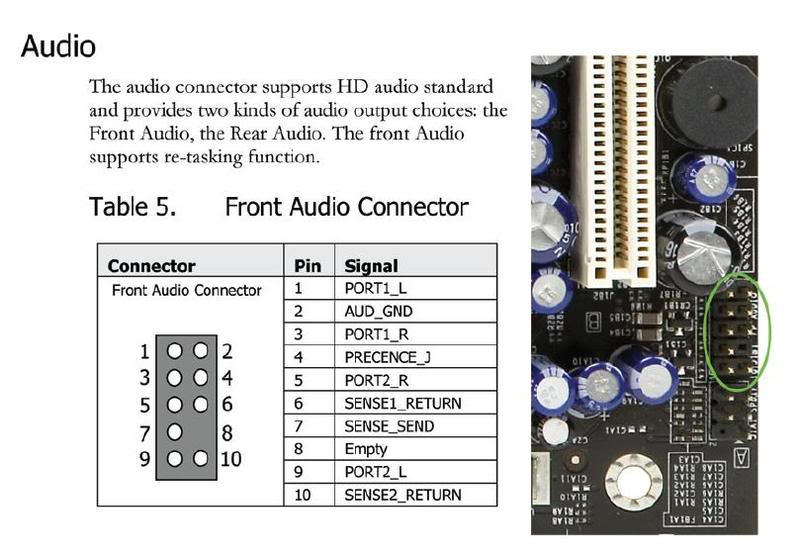 Motherboard Wiring Audio - Wiring Diagram Page