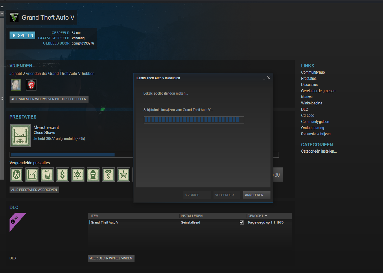 steam still allocating diskspace after gta 5 has finished