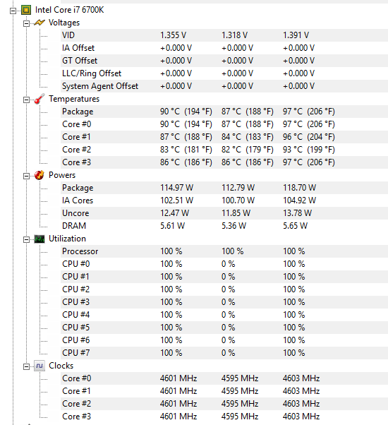 Temp too high on OC 6700K? - CPUs, Motherboards, and Memory