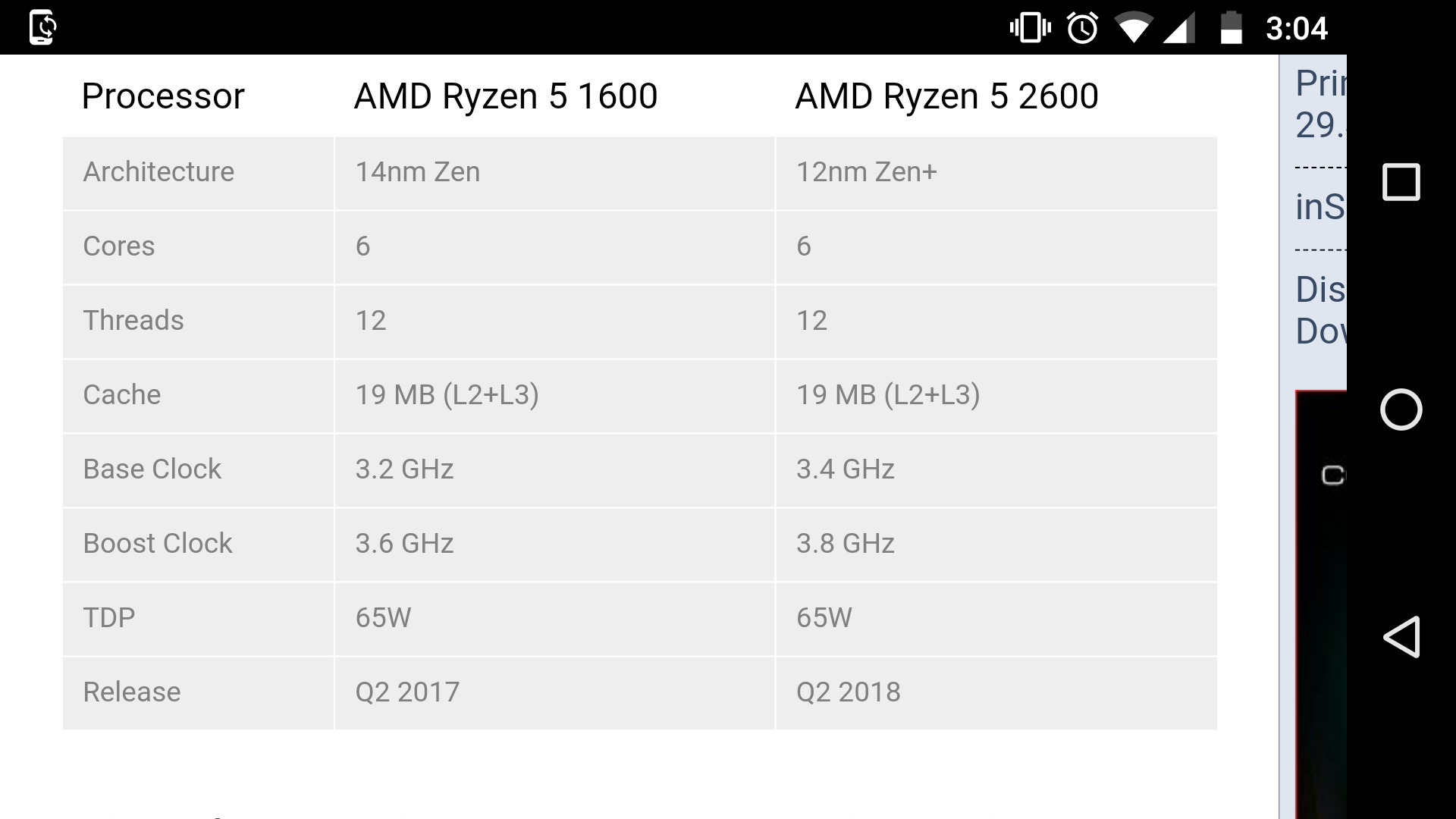 AMD Ryzen 5 2600 specs leaked - CPUs, Motherboards, and Memory
