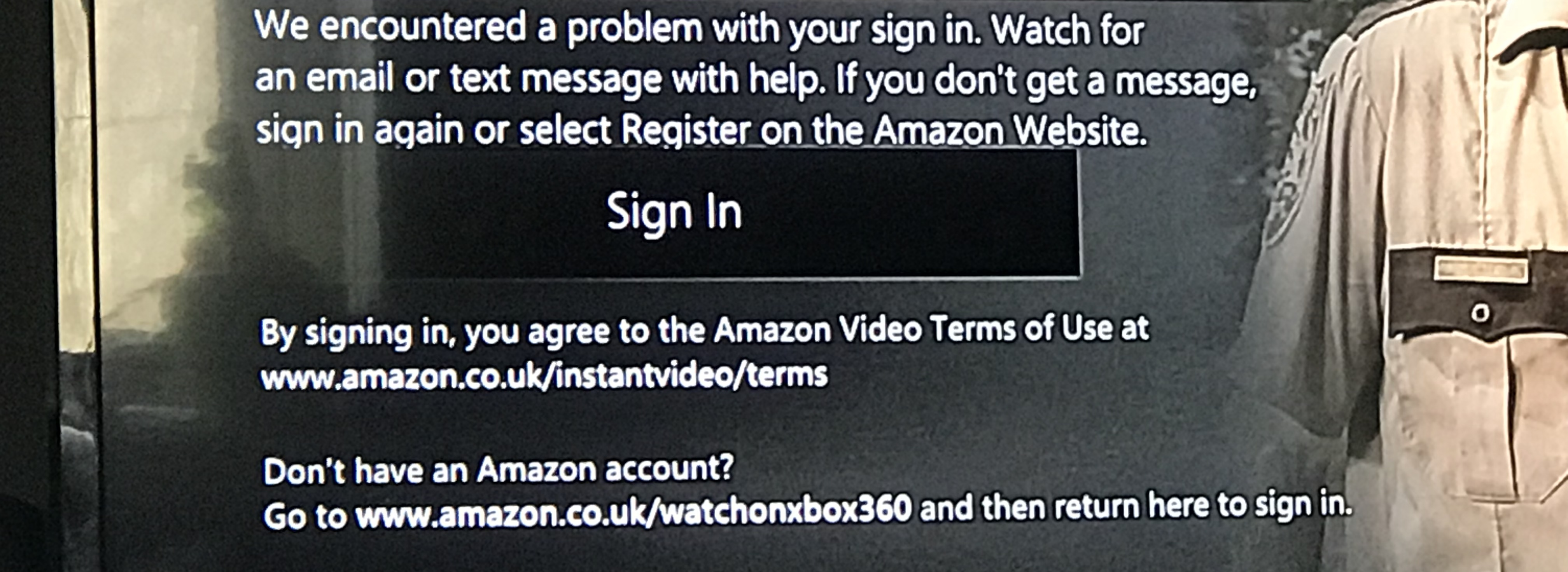 FFS?? Amazon prime not signing in Xbox 360 ? - Console