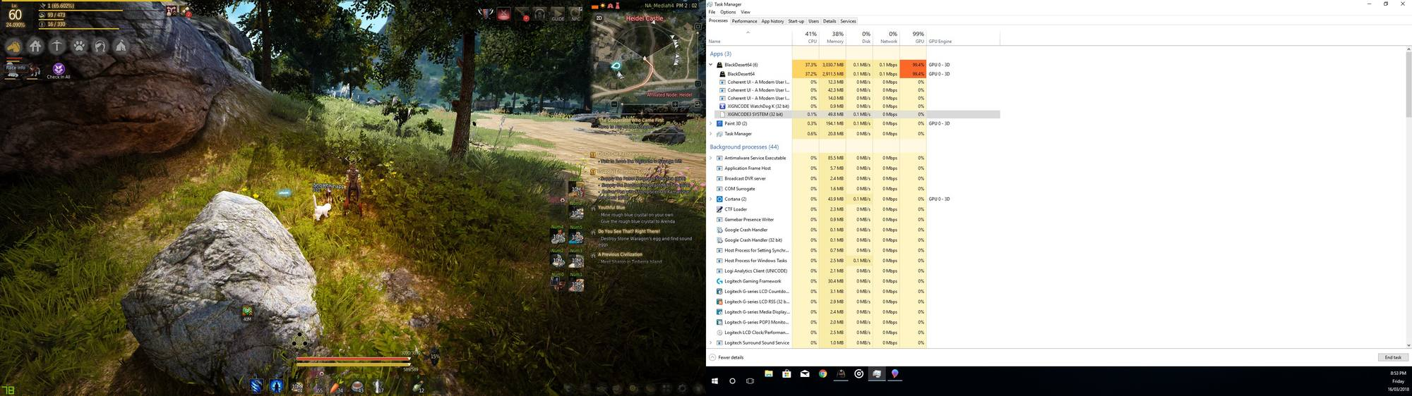 Who can solve this problem? Game not using the full power of my GPU
