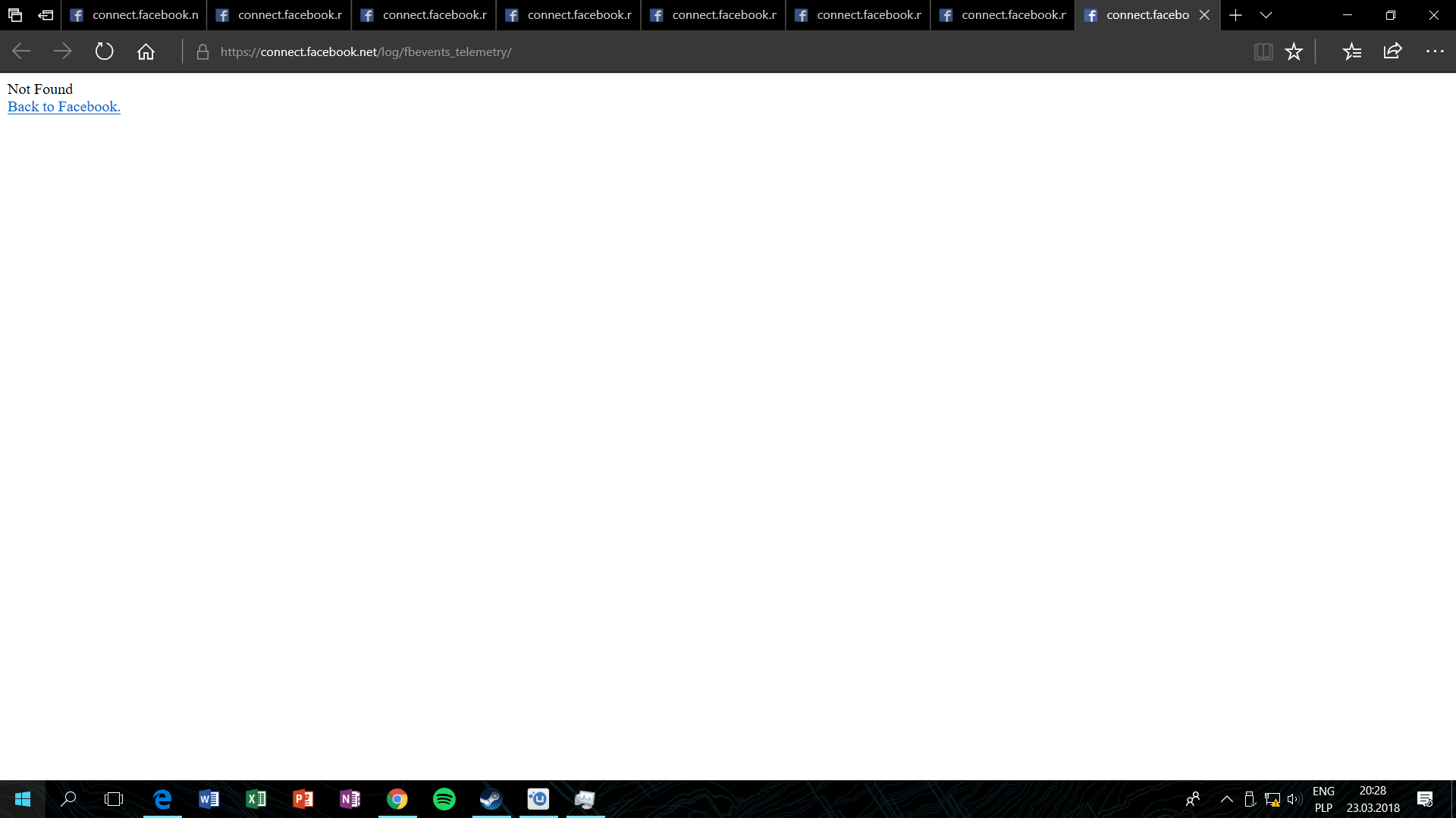 HELP! Edge keeps trying to open https://connect facebook net