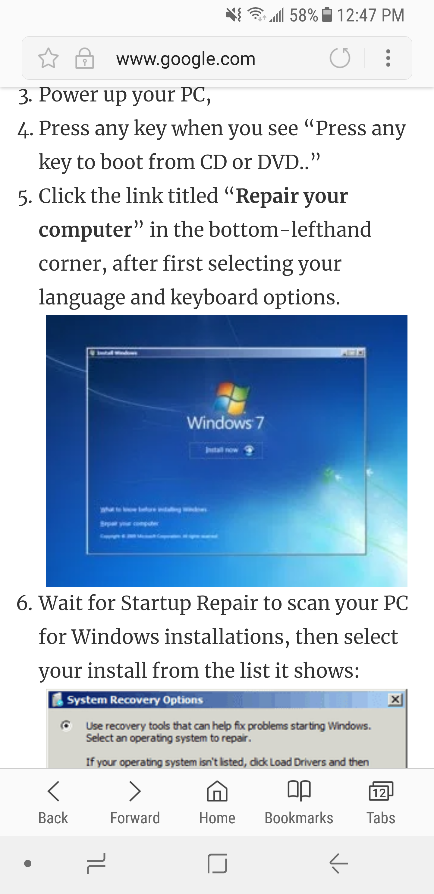 how to fix windows 7 stuck