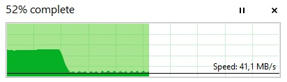 External SSD ànd others drop in speed after a few seconds or