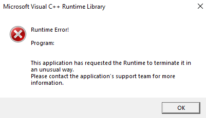 Uplay Runtime C++ error - Programs, Apps and Websites
