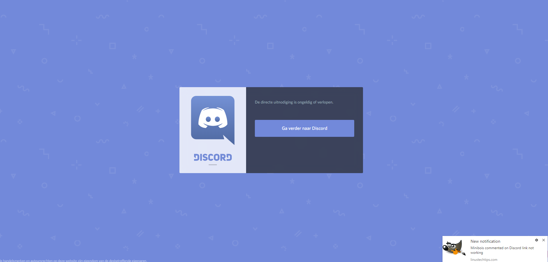 Discord link not working - General Discussion - Linus Tech Tips
