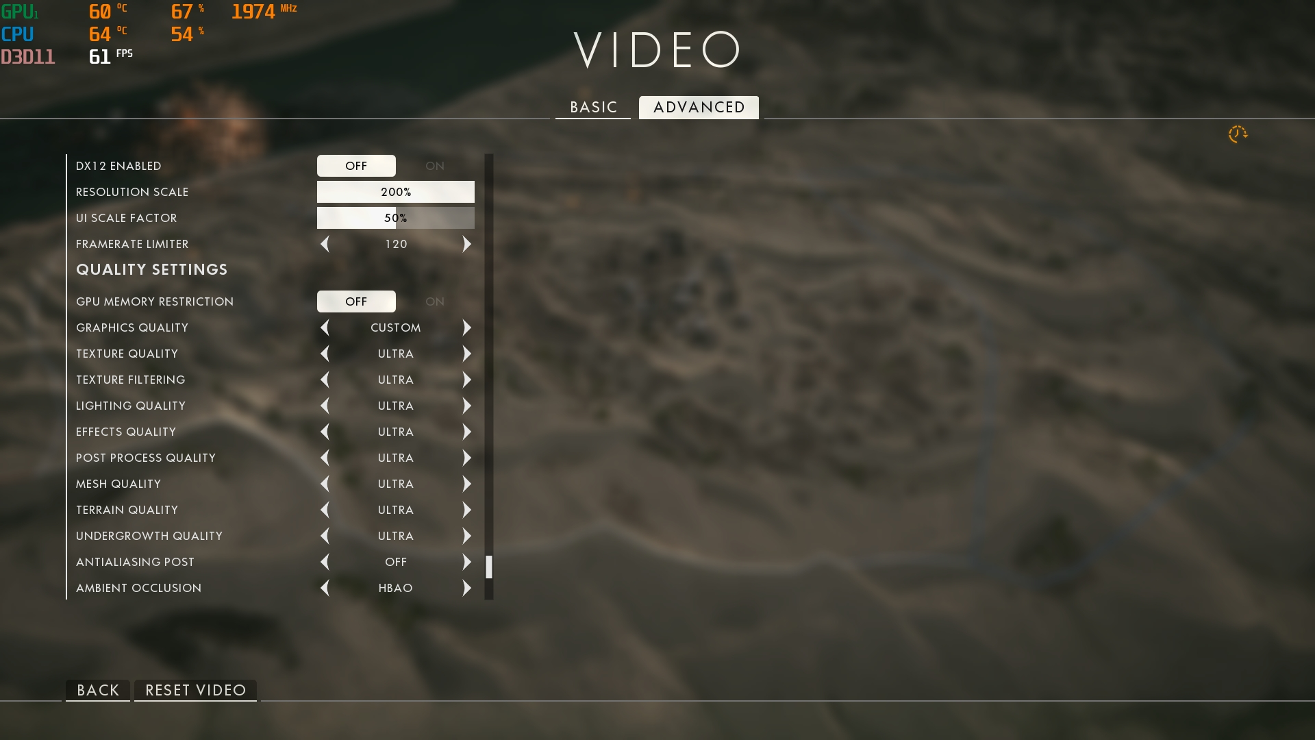 Battlefield 1 resolution scaling vs actual resolution - PC Gaming