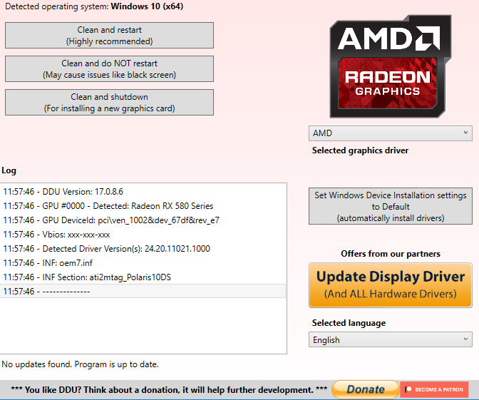 Games Run Bad After Upgrading from GTX 1050 2Gb to RX 580 8GB