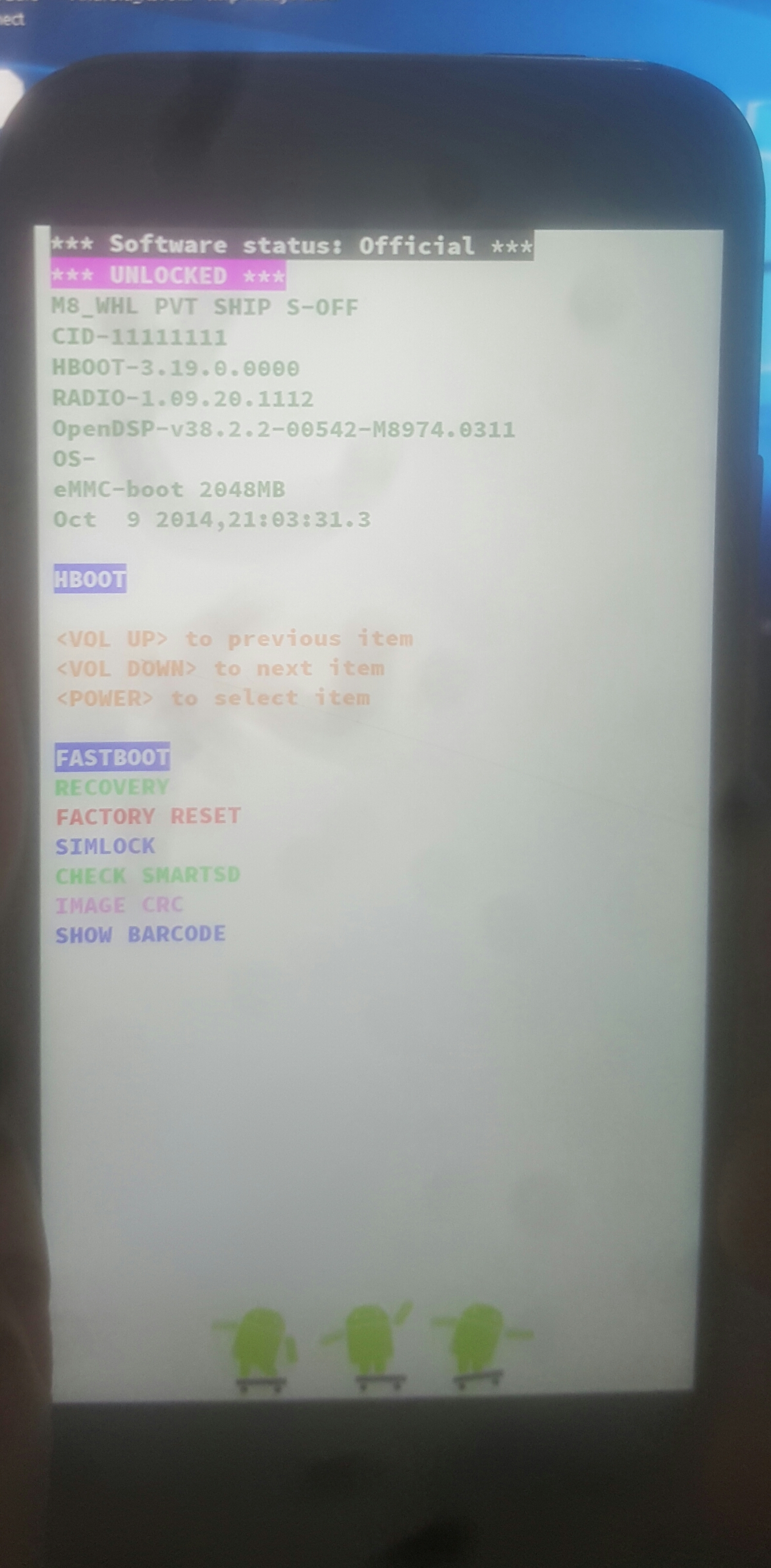 My htc m8 keeps booting into fastboot - Phones and Tablets