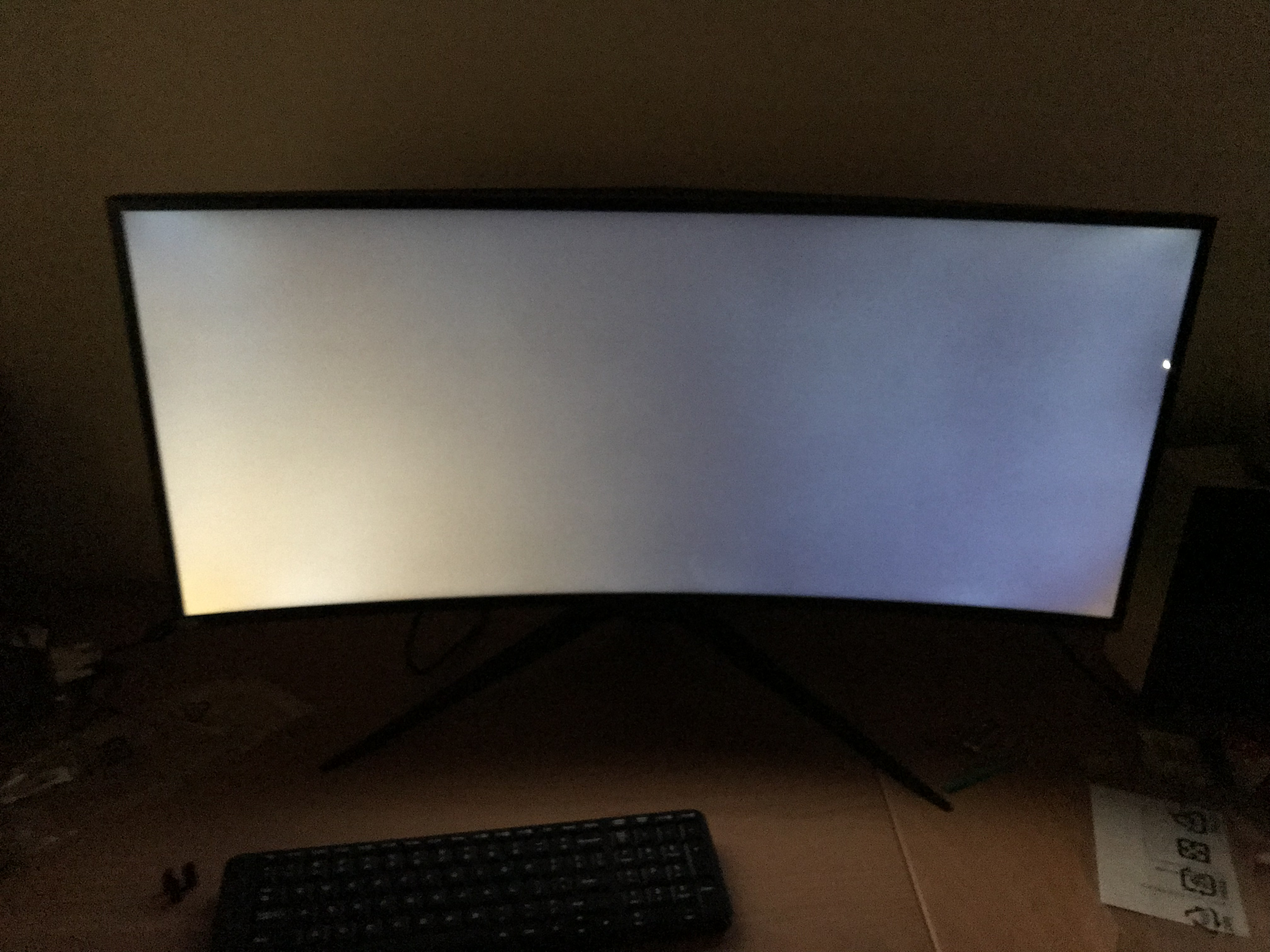 How much Backlight bleed is acceptable? (Alienware AW3418DW pictures