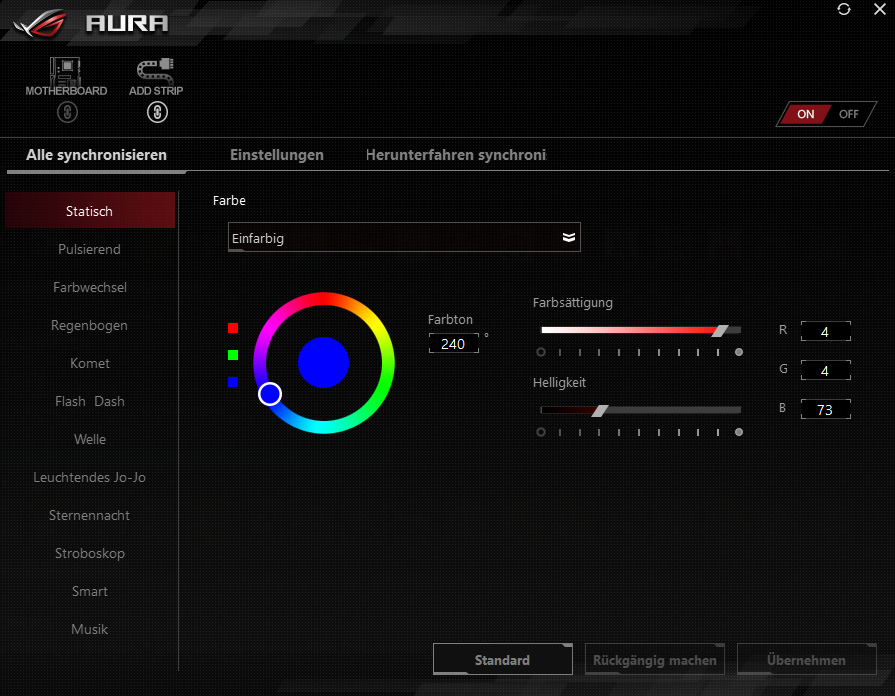 G  SKill Trident Z RGB does not show up in Asus Aura