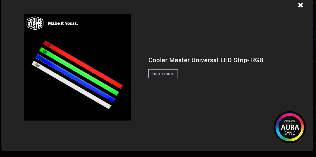 Cooler Master Universal RGB LED Strip and Asus Aura - Case Modding