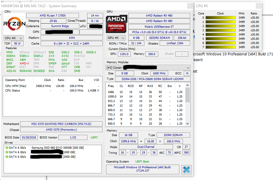 What voltage is normal for a 1700X when XFR is ON? - CPUs
