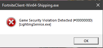 security voialation png - fortnite security violation detected