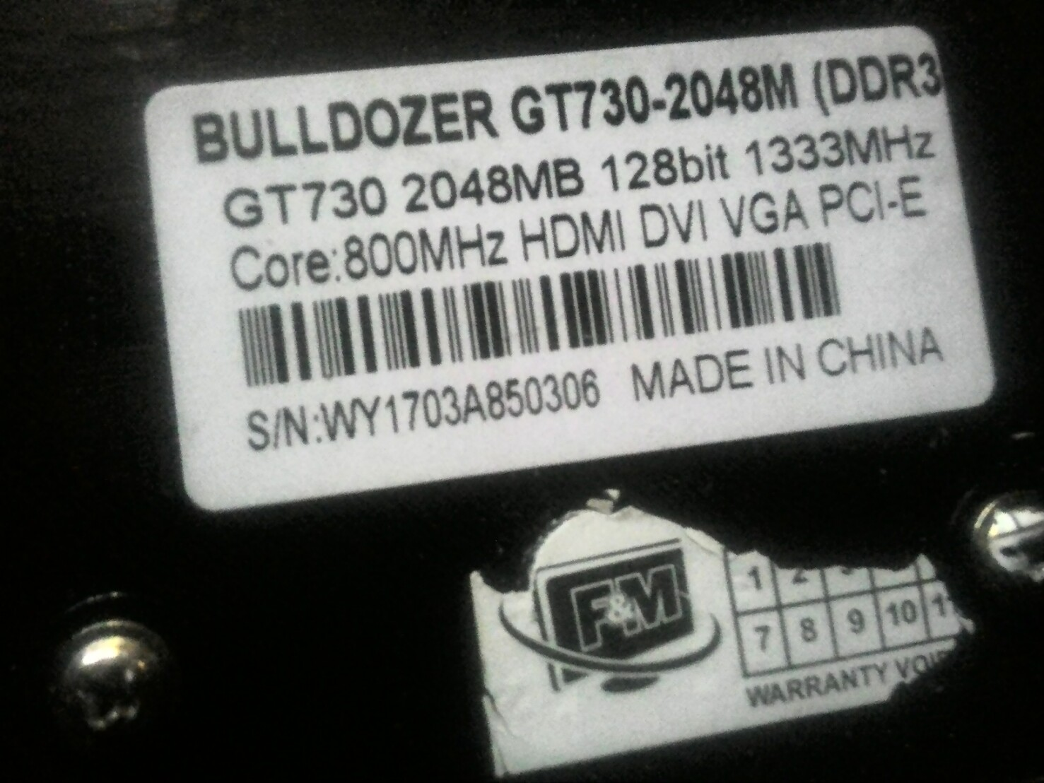Please Help Me Identifying My Real Gpu Card Was Graphics Cards Vga Buldozer Ddr3 P 20180704 155016