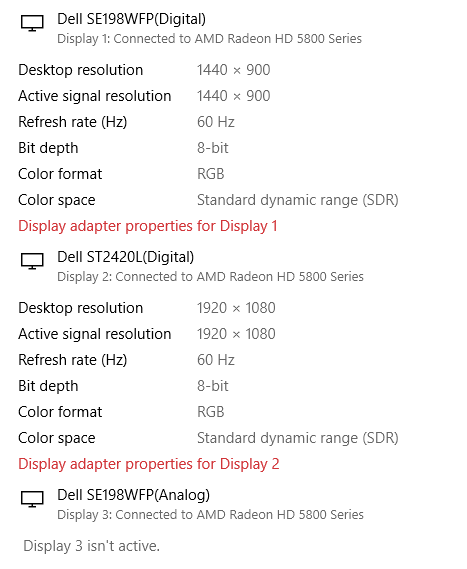 Trying to set up third monitor, but computer does not detect it