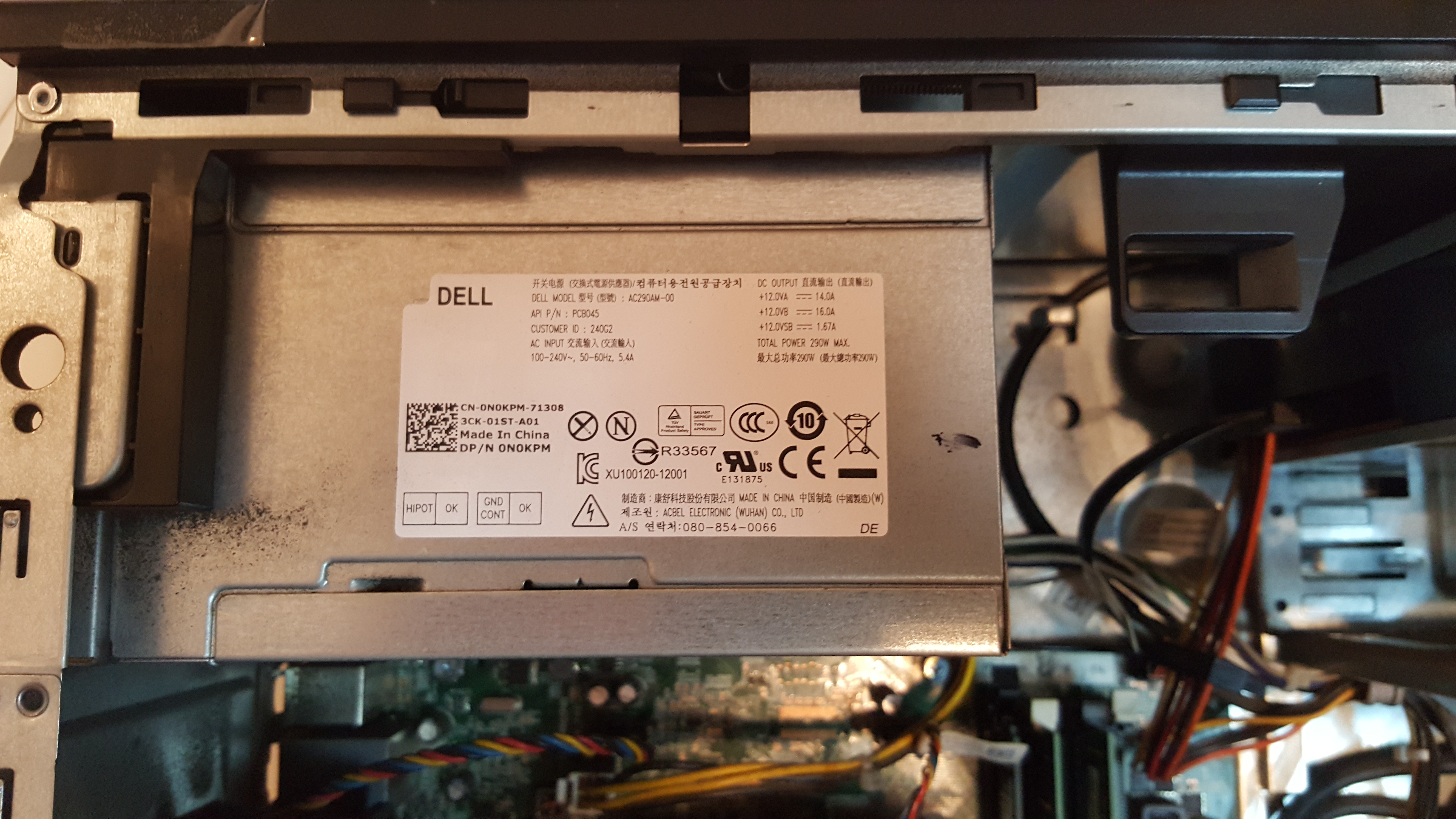 Upgrading Dell Optiplex 9020 PSU - Cases and Power Supplies
