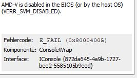 VirtualBox - AMD - V is disabled in the Bios? - Operating Systems