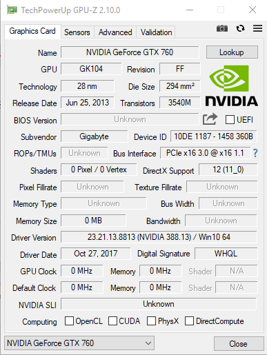 Help for flashing the BIOS on my GTX 760 - Graphics Cards
