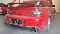 My RX-8 parked, in reality it was covered in dust. Might not be clear on camera.