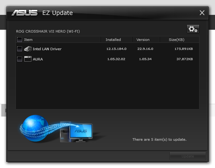 asus ez update wont install the updates - Troubleshooting