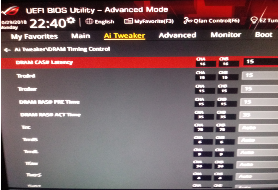 ram timings on asus strix x470-f bios - CPUs, Motherboards, and