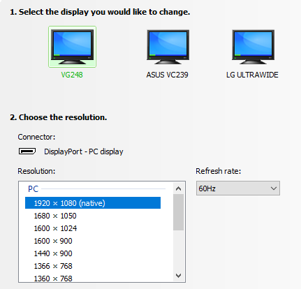 Asus Vg248qe 144hz Setup Windows 10