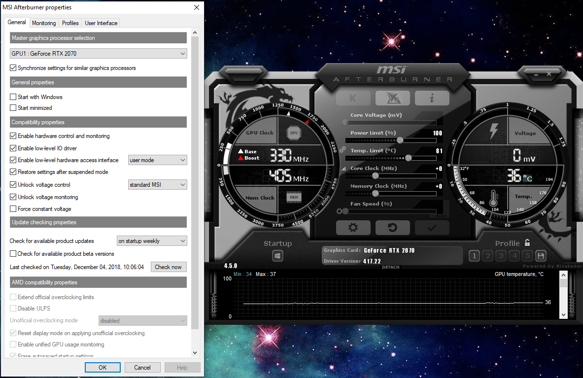 Can't change fan speed in MSI Afterburner    - Programs