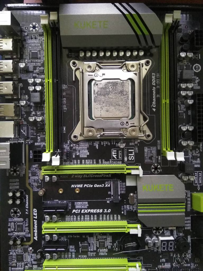Q77 chipset on 2011 mobo + issue with boot - CPUs