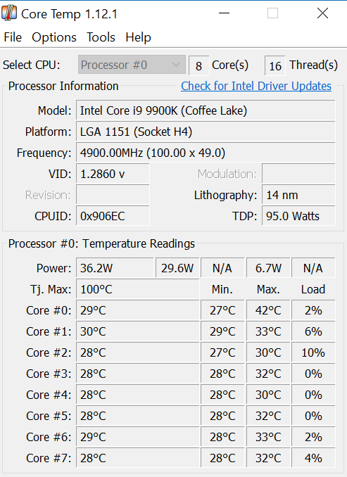 i9-9900k Temps - CPUs, Motherboards, and Memory - Linus Tech
