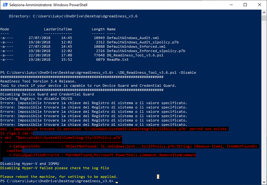 DeviceGuard enabled from nowhere, how to deactivate it? - Windows