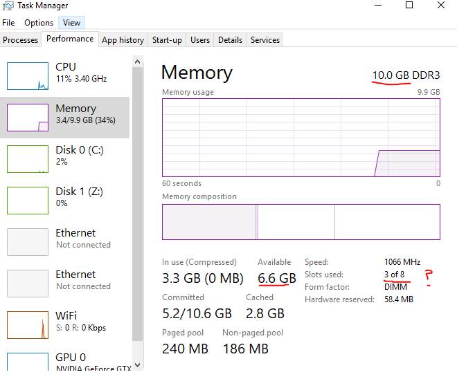 Windows 10 only showing 10gb of ram - CPUs, Motherboards, and Memory