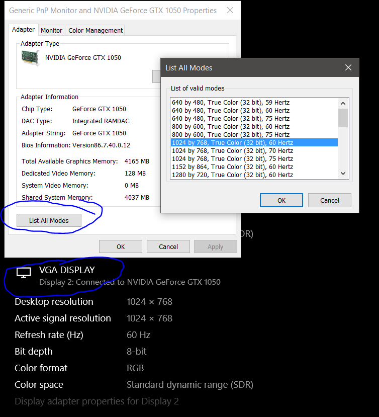 System Video Memory 0mb