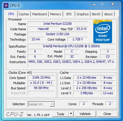 Attempted to overclock G3258, yet CPU does not surpass 3 6