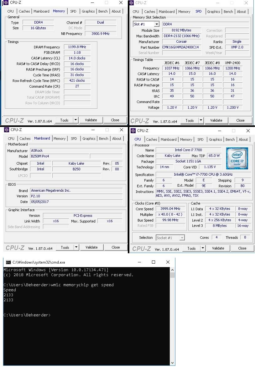 Bought 2400mhz ram, but i cannot get it past 2133  Plz help - CPUs