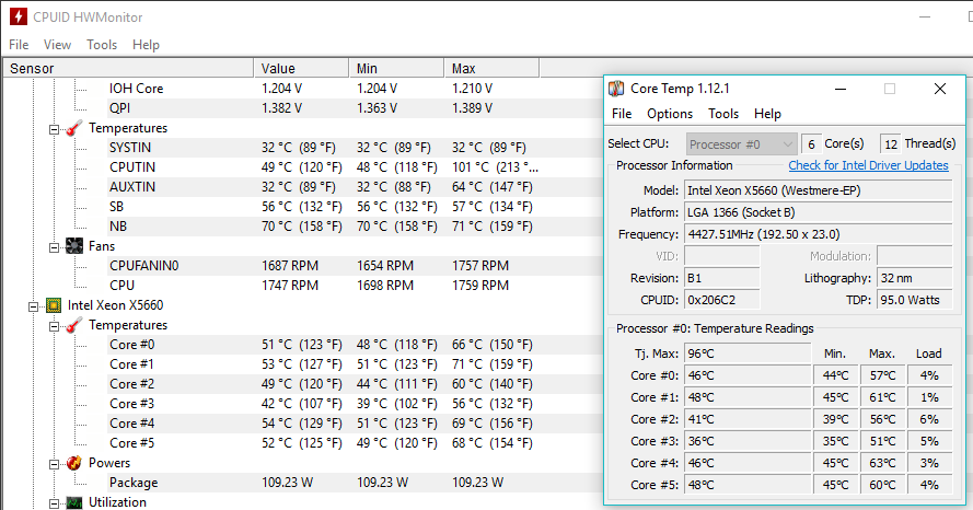 HWMonitor vs CoreTemp - CPUs, Motherboards, and Memory - Linus Tech Tips