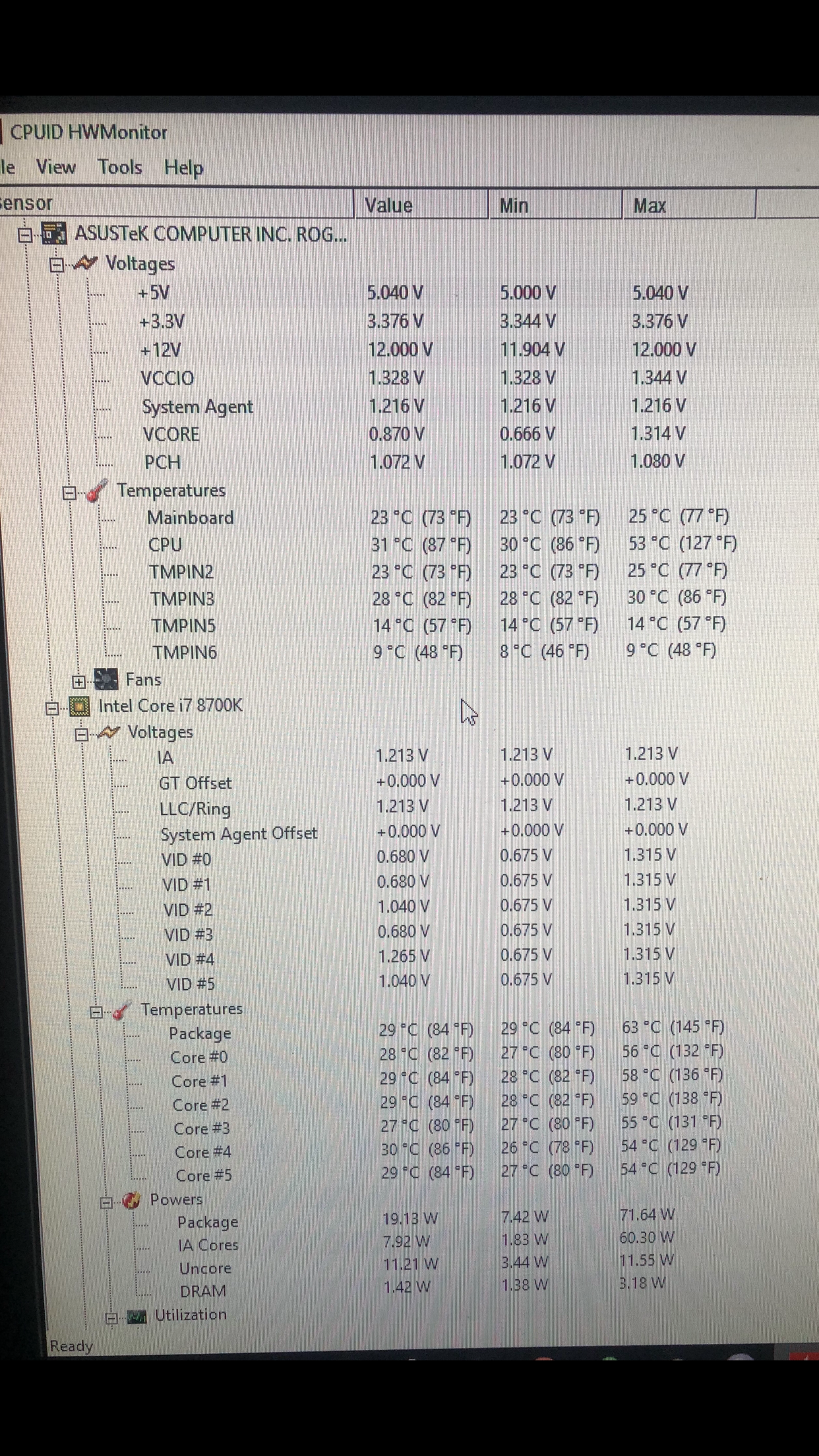 ASUS strix z390-e 8700k overclocking help for absolute noob