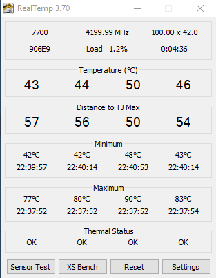 High Temperature on i7 7700(non k) while idle  - CPUs, Motherboards