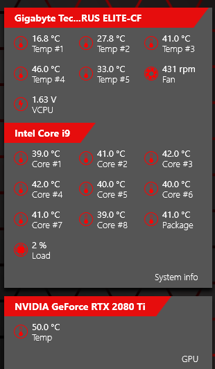 are this temperatures safe? for i9 9900k - CPUs