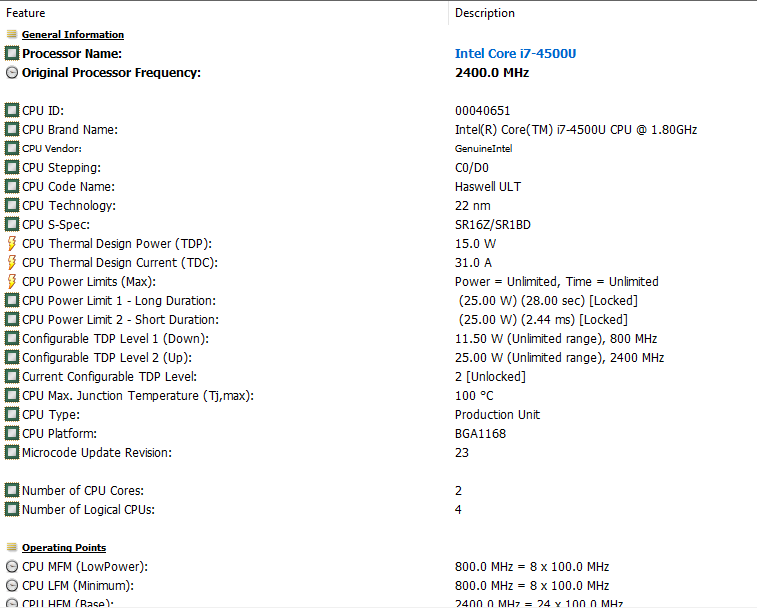 Power mod for Haswell-ULT i7 4500U  - CPUs, Motherboards