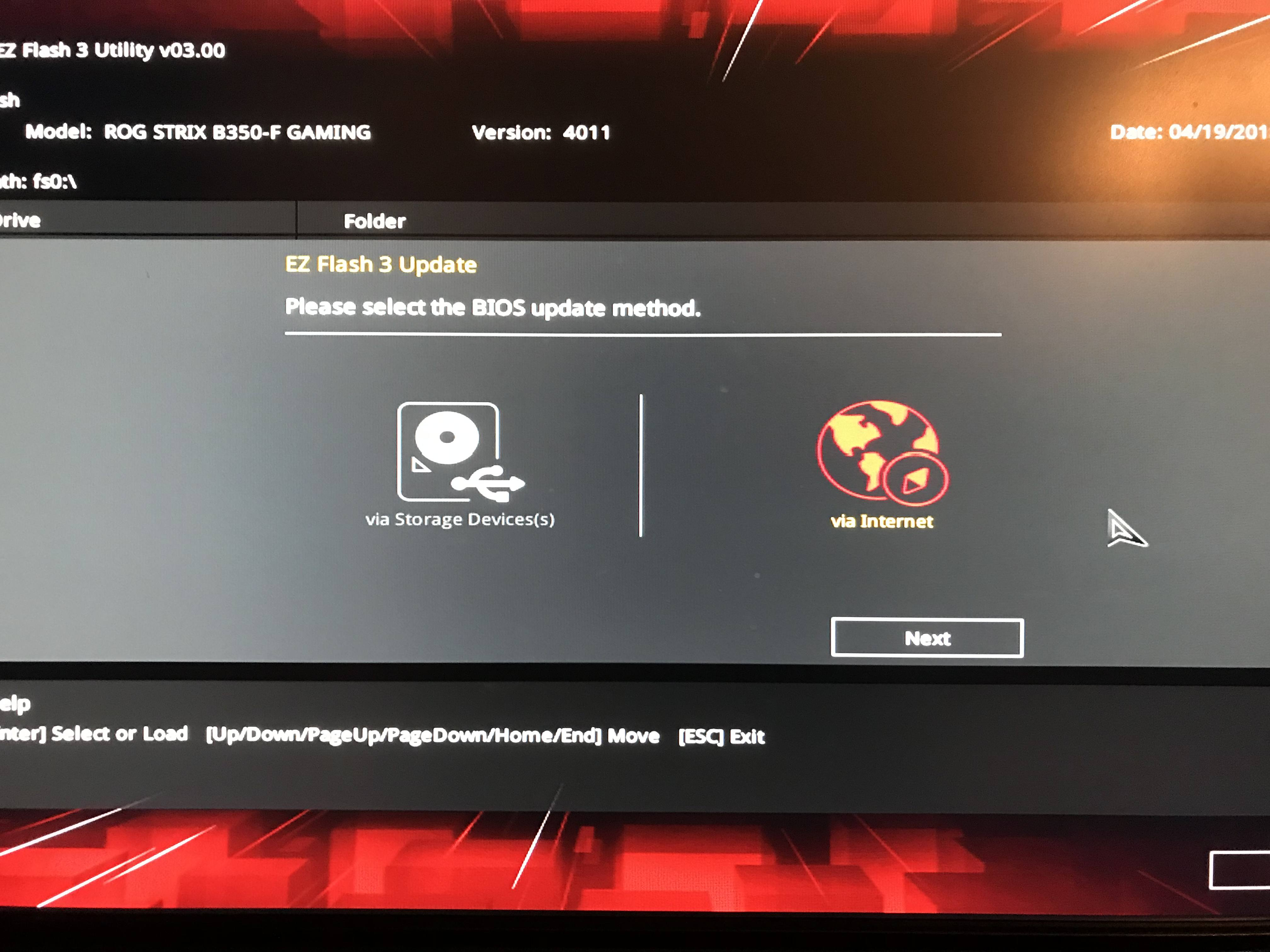Asus EZ Flash 3 Utility Bios Update Problems with ROG STRIX