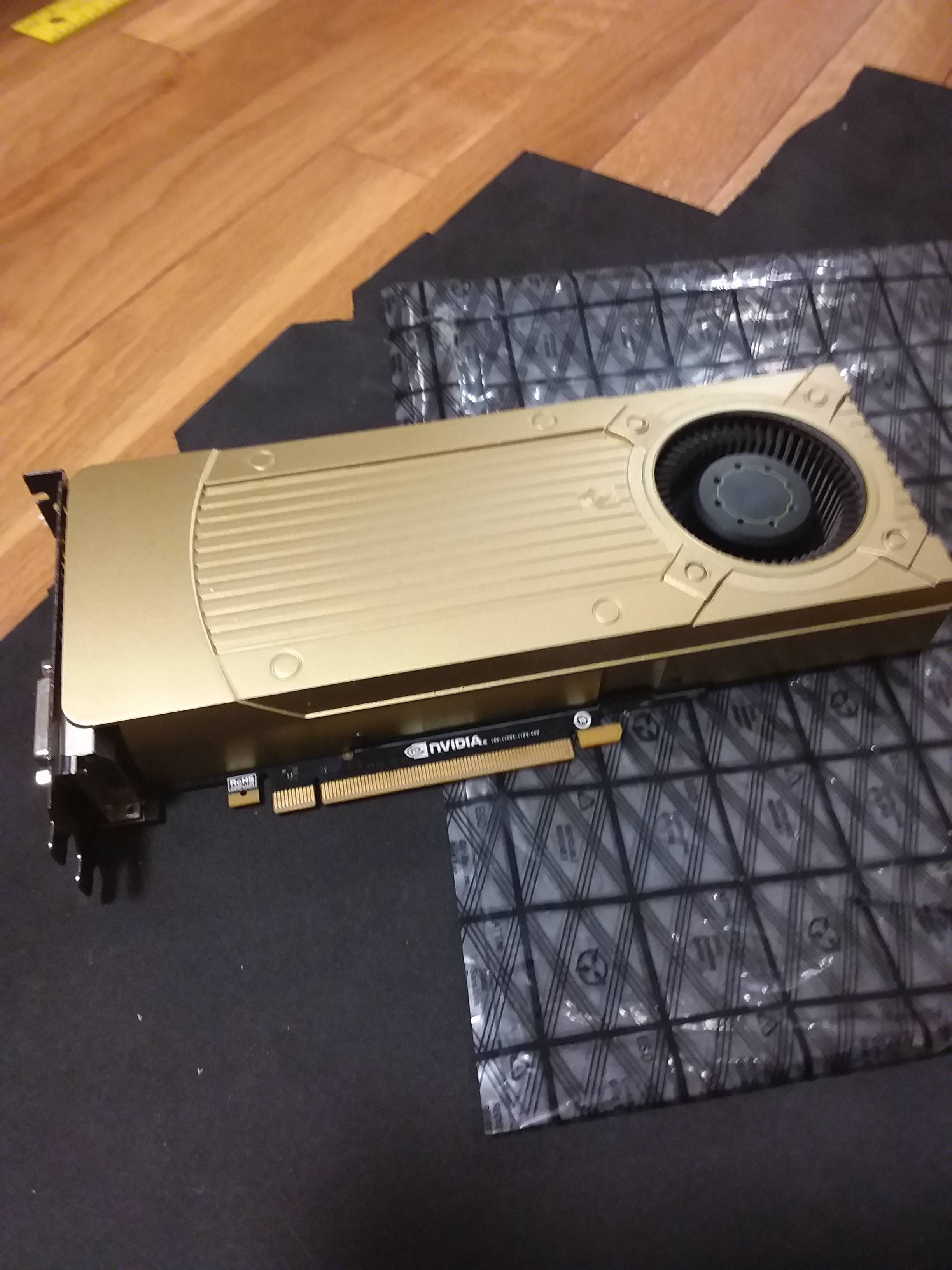 Just painted my graphics card :) - Case Modding and Other Mods
