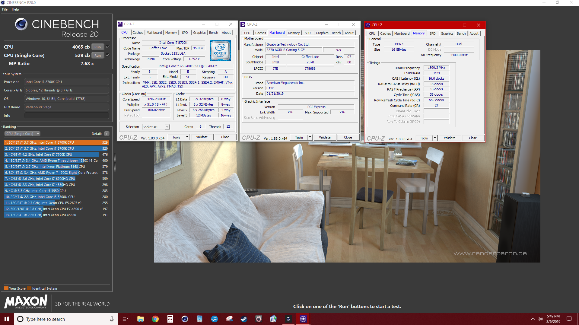 Post your Cinebench R20+15+R11 5+2003 Scores **Over 1000
