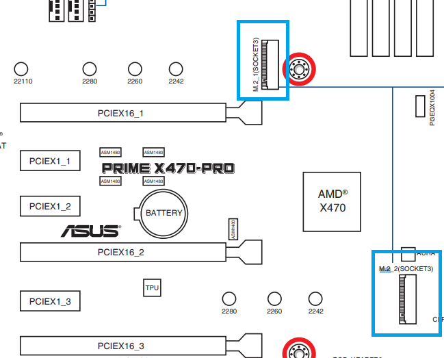 Asus Prime X470 PRO M 2 bandwidth - CPUs, Motherboards, and Memory