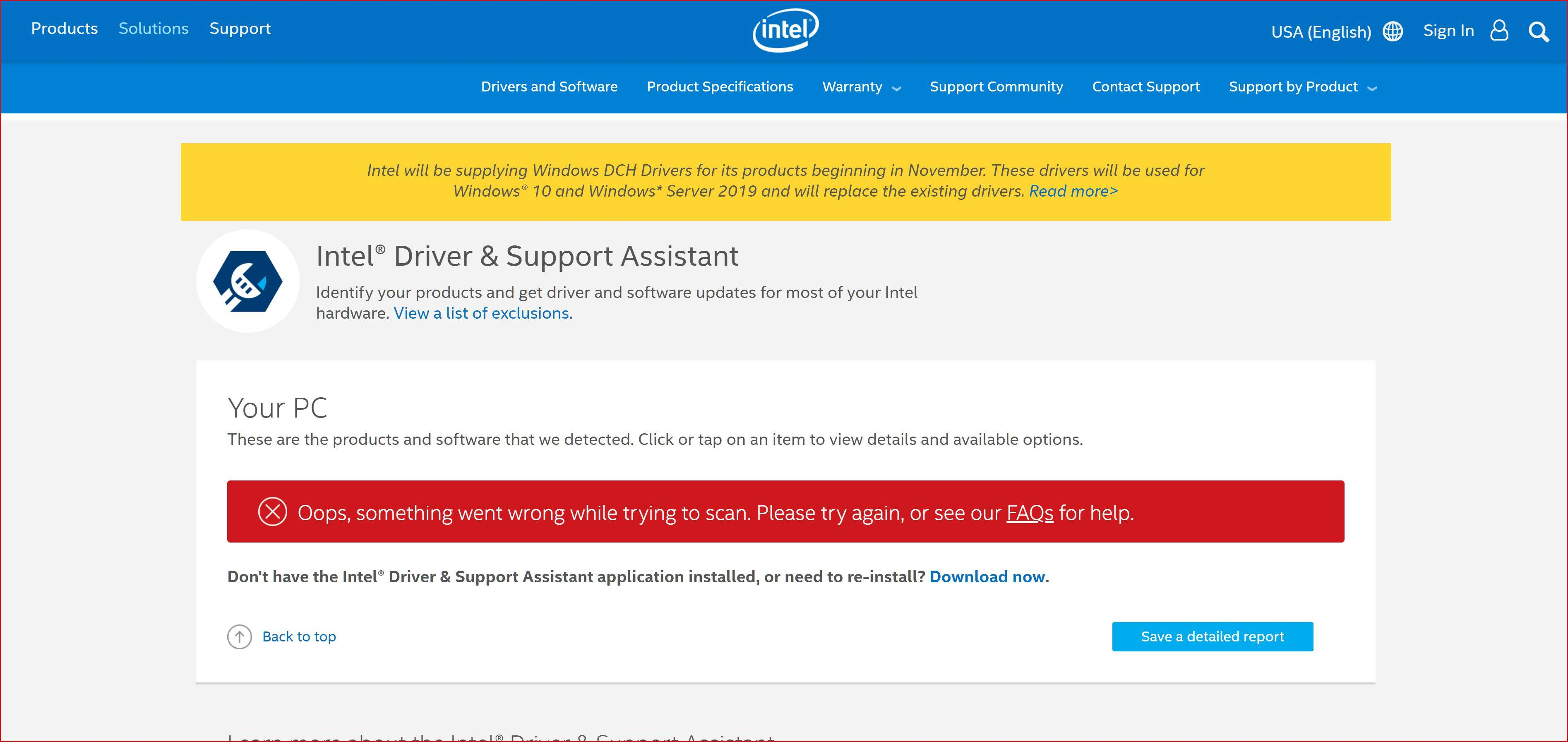 Intel® Driver & Support Assistant / Windows 10 DCH Drivers