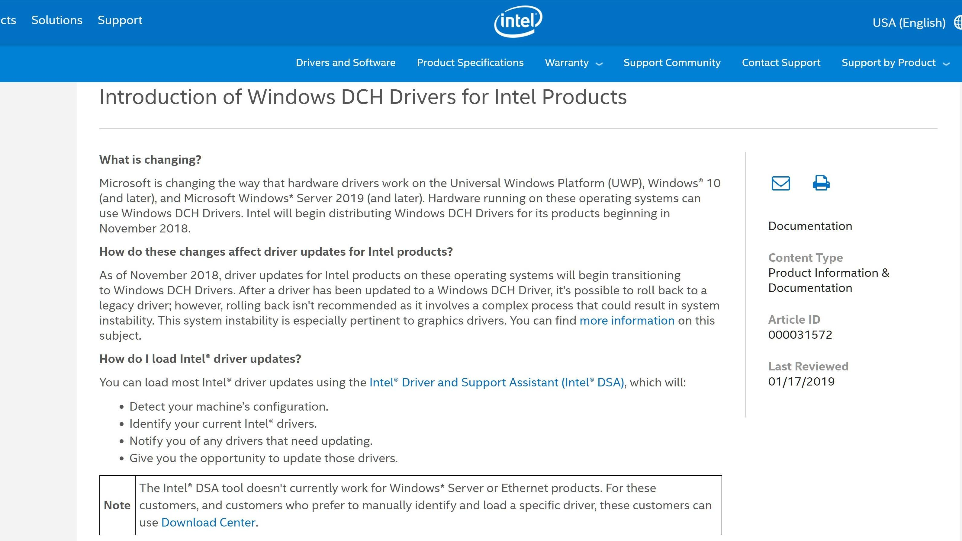intel driver and support assistant uninstall