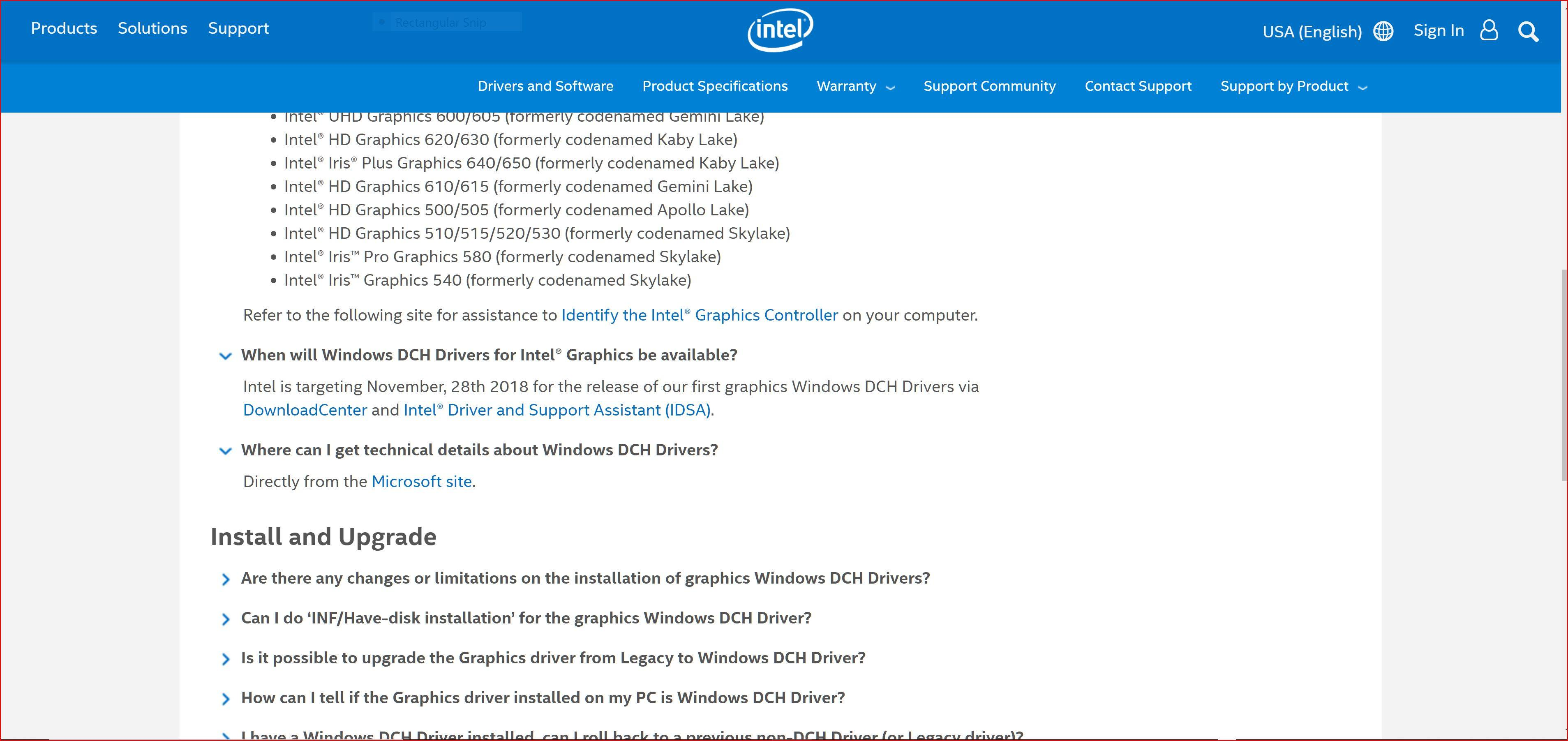 intel driver support assistant uninstall