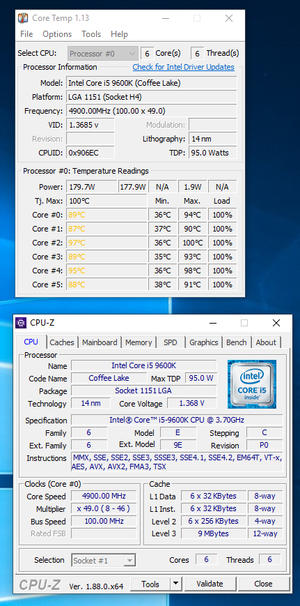 i5-9600k Overclocking Advise - CPUs, Motherboards, and Memory
