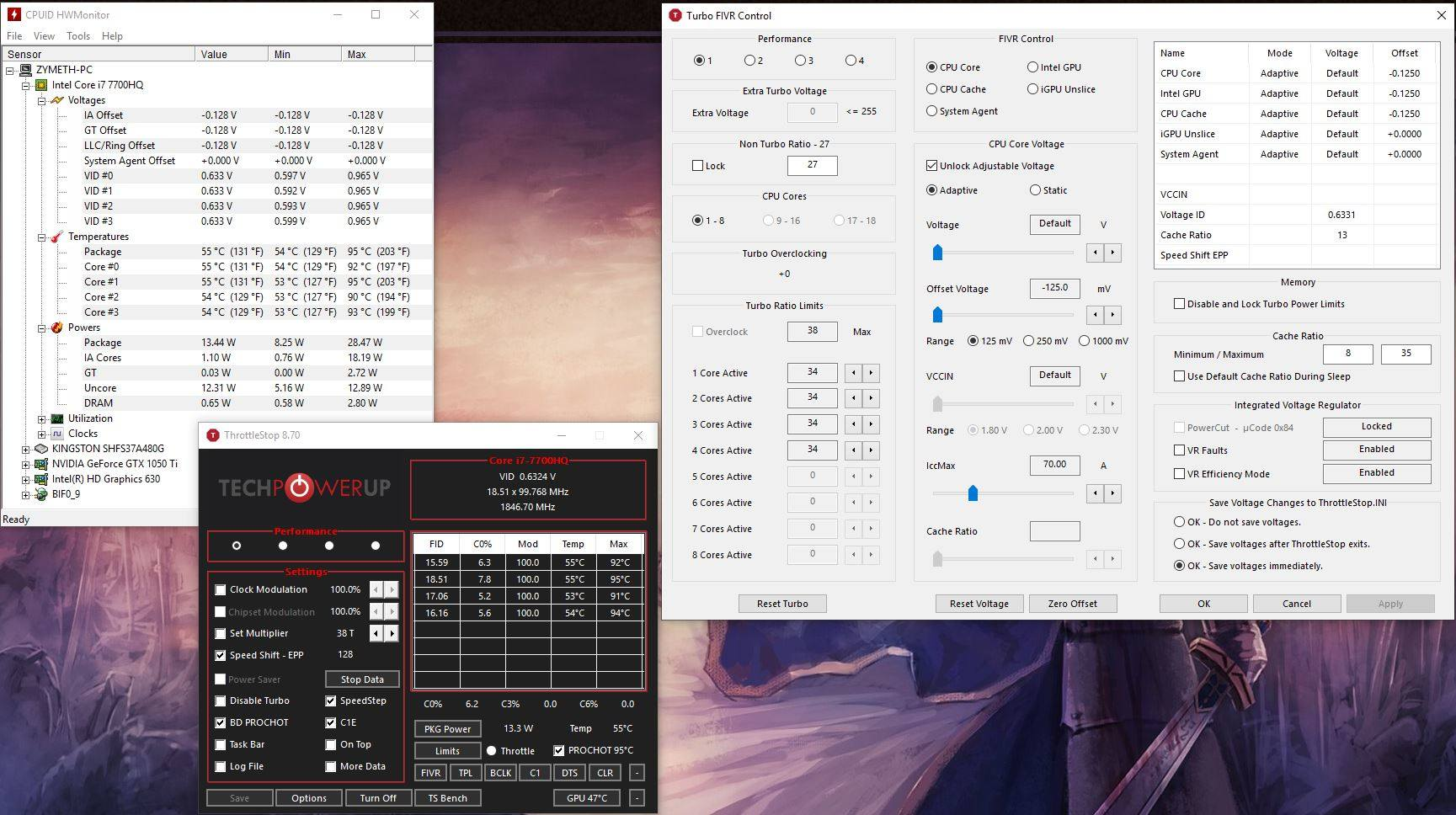 How to lower TDP in 7700HQ - Laptops and Pre-Built Systems